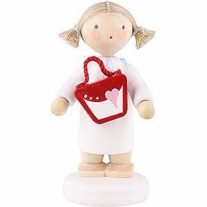 Weihnachtsengel Flade Flachshaarengel Flachshaarengel mit Handtasche - 5cm