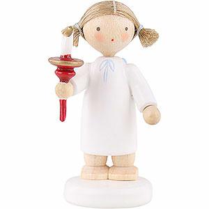 Weihnachtsengel Flade Flachshaarengel Flachshaarengel mit Kerze - 5cm