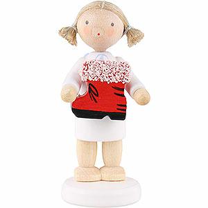 Weihnachtsengel Flade Flachshaarengel Flachshaarengel mit Nikolausstiefel - 5 cm