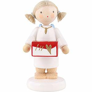 Weihnachtsengel Flade Flachshaarengel Flachshaarengel mit Schmuckschatulle - 5cm