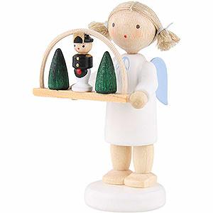 Weihnachtsengel Flade Flachshaarengel Flachshaarengel mit Schwibbogen - 5cm