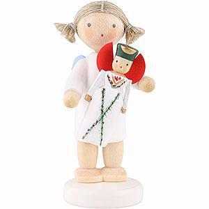 Weihnachtsengel Flade Flachshaarengel Flachshaarengel mit Seiffener Flachshaarengel - 5cm