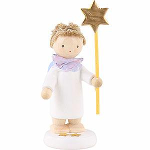 Weihnachtsengel Flade Flachshaarengel Flachshaarengel mit Stern 2015 - 5cm