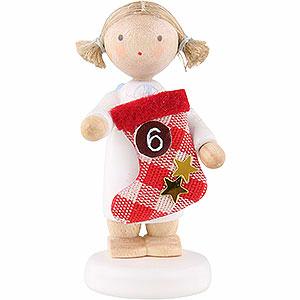 Weihnachtsengel Flade Flachshaarengel Flachshaarengel mit Stiefel (6) - 5cm