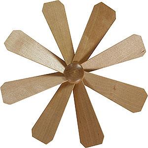 Weihnachtspyramiden Zubehör & Kerzen Flügelrad für Weihnachtspyramide - Durchmesser = 21,5cm