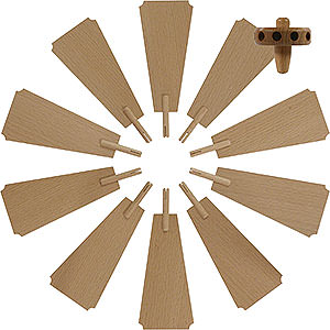 Weihnachtspyramiden Zubehör & Kerzen Flügelrad für Weihnachtspyramide - Durchmesser = 35cm