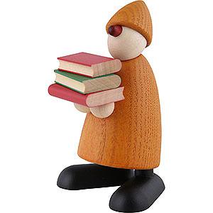 Kleine Figuren & Miniaturen Björn Köhler Gratulanten Gratulant Billy mit Büchern, gelb - 9 cm