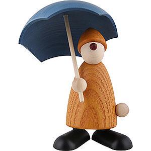 Kleine Figuren & Miniaturen Bj�rn K�hler Gratulanten Gratulant Charlie mit Schirm, gelb - 9cm