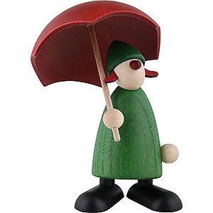 Kleine Figuren & Miniaturen Björn Köhler Gratulanten Gratulant Charlie mit Schirm, grün - 9cm