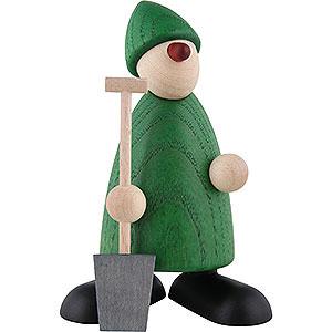 Kleine Figuren & Miniaturen Björn Köhler Gratulanten Gratulant Hans mit Spaten, grün - 9 cm