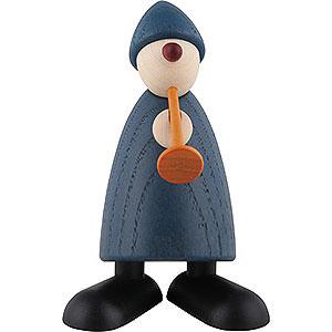 Kleine Figuren & Miniaturen Björn Köhler Gratulanten Gratulant Karlchen mit Flöte, blau - 9cm