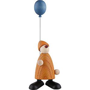 Kleine Figuren & Miniaturen Björn Köhler Gratulanten Gratulant Linus mit blauem Luftballon, gelb - 9cm