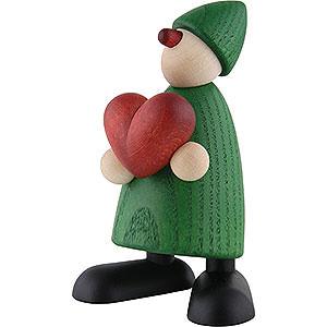 Kleine Figuren & Miniaturen Björn Köhler Gratulanten Gratulant Theo mit Herz, grün - 9cm