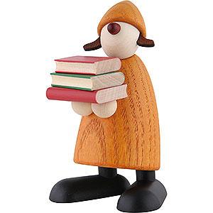 Kleine Figuren & Miniaturen Björn Köhler Gratulanten Gratulantin Lilly mit Büchern, gelb - 9cm