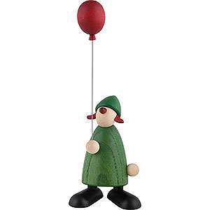 Kleine Figuren & Miniaturen Björn Köhler Gratulanten Gratulantin Lina mit rotem Luftballon, grün - 9cm