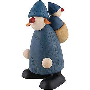 Kleine Figuren & Miniaturen Björn Köhler Gratulanten Gratulantin Lisa mit Lieschen, blau - 9 cm