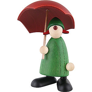 Kleine Figuren & Miniaturen Björn Köhler Gratulanten Gratulantin Louise mit Schirm, grün - 9cm