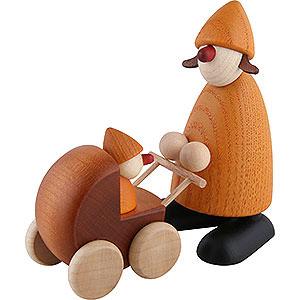 Kleine Figuren & Miniaturen Bj�rn K�hler Gratulanten Gratulantin Paula mit Kinderwagen, gelb - 9cm