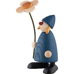 Kleine Figuren & Miniaturen Bj�rn K�hler Gratulanten Gratulantin Susi mit Blume stehend, blau - 9cm