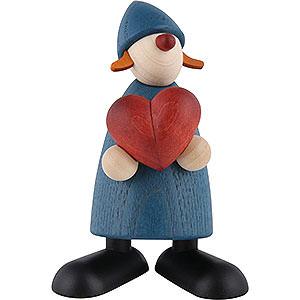 Kleine Figuren & Miniaturen Björn Köhler Gratulanten Gratulantin Thea mit Herz, blau - 9cm
