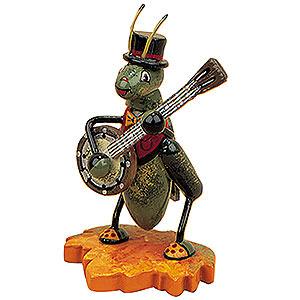 Kleine Figuren & Miniaturen Tiere Käfer Grille mit Banjo - 8 cm