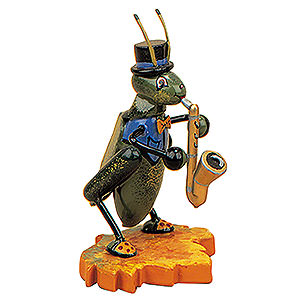 Kleine Figuren & Miniaturen Tiere Käfer Grille mit Saxophon - 8cm