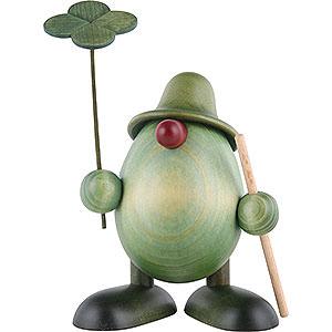 Kleine Figuren & Miniaturen Bj�rn K�hler Gr�ne M�nnlein Gr�nes M�nnlein mit Kleeblatt und Stock, stehend - 11cm