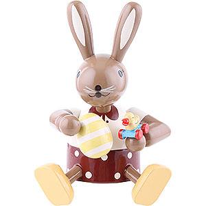 Kleine Figuren & Miniaturen Tiere Hasen Häsin mit Ente - Kantenhocker - 10 cm