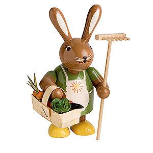 Kleine Figuren & Miniaturen Tiere Hasen Häsin mit Rechen - 11 cm