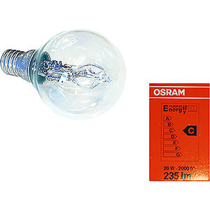 Advent Stars and Moravian Christmas Stars Accessories Halogen light bulb for indoor stars 29-00-I4 bis 29-00-I8, E14, 20W