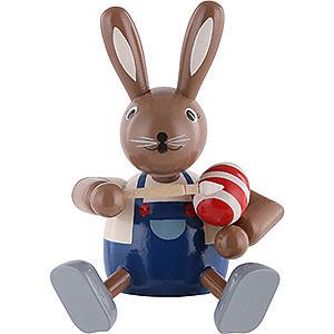 Kleine Figuren & Miniaturen Tiere Hasen Hase Eiermaler - Kantenhocker - 10 cm