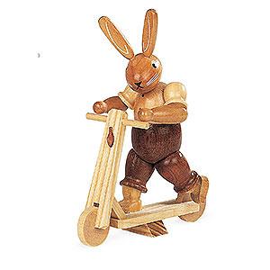 Kleine Figuren & Miniaturen Tiere Hasen Hase auf Roller - 11 cm