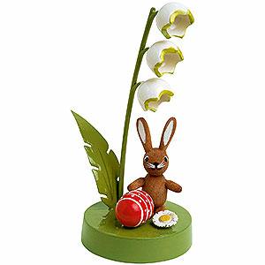 Kleine Figuren & Miniaturen Tiere Hasen Hase mit Maiglöckchen - 7cm