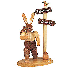 Kleine Figuren & Miniaturen Tiere Hasen Hasen Wanderer - 13 cm