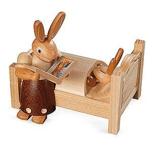 Kleine Figuren & Miniaturen Tiere Hasen Hasenmutter erz�hlt Gute Nacht Geschichten - 9cm