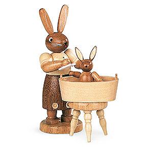 Kleine Figuren & Miniaturen Tiere Hasen Hasenmutter mit Kind - 11 cm