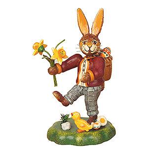 Kleine Figuren & Miniaturen Tiere Hasen Hasenvater mit Narzisse - 10cm