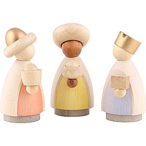 Kleine Figuren & Miniaturen Krippen Heilige Drei Könige - modern lasiert - 8,5x3,5x8 cm