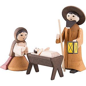 Kleine Figuren & Miniaturen ULMIK Krippe Heilige Familie 3-teilig gebeizt - 7 cm