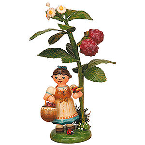 Kleine Figuren & Miniaturen Hubrig Herbstkinder Herbstkind - Himbeere - 13cm