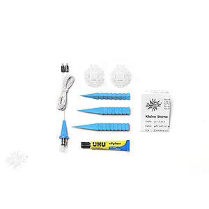 Adventssterne und Weihnachtssterne Herrnhuter Stern A1 Herrnhuter Bastelstern A1b blau Kunststoff - 13cm