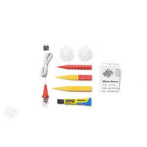 Adventssterne und Weihnachtssterne Herrnhuter Stern A1 Herrnhuter Bastelstern A1b gelb/rot Kunststoff - 13cm
