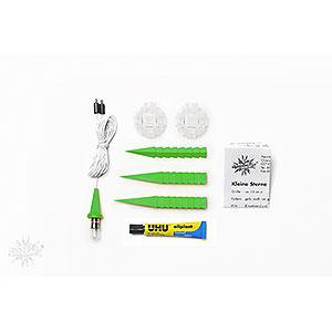 Adventssterne und Weihnachtssterne Herrnhuter Stern A1 Herrnhuter Bastelstern A1b grün Kunststoff - 13cm