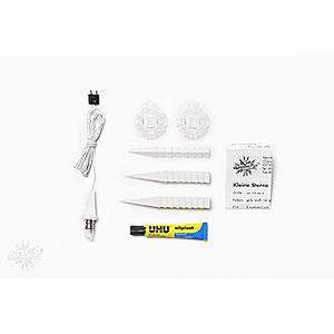 Adventssterne und Weihnachtssterne Herrnhuter Stern A1 Herrnhuter Bastelstern A1b weiß Kunststoff - 13cm