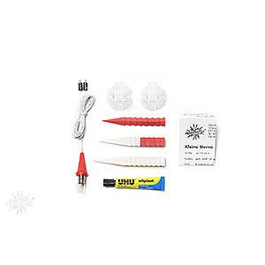 Adventssterne und Weihnachtssterne Herrnhuter Stern A1 Herrnhuter Bastelstern A1b weiß/rot Kunststoff - 13cm