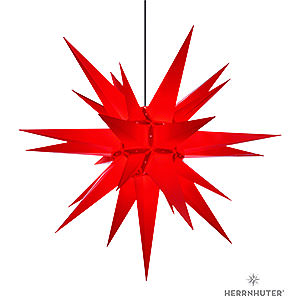 Advent Stars and Moravian Christmas Stars Herrnhuter Star A13 Herrnhuter Moravian Star A13 Red Plastic - 130cm/51 inch