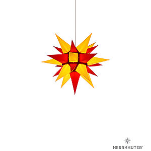 Advent Stars and Moravian Christmas Stars Herrnhuter Star I4 Herrnhuter Moravian Star I4 Yellow/Red Paper - 40 cm / 15.7 inch