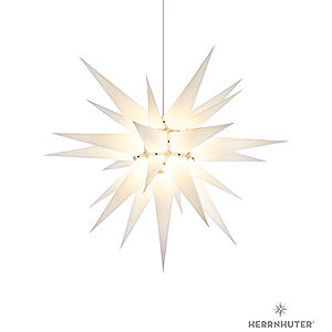 Advent Stars and Moravian Christmas Stars Herrnhuter Star I7 Herrnhuter Moravian Star I7 White Paper - 70 cm / 27.6 inch