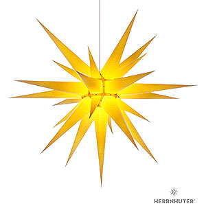 Advent Stars and Moravian Christmas Stars Herrnhuter Star I8 Herrnhuter Moravian Star I8 Yellow Paper - 80cm/31 inch