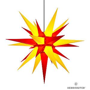 Advent Stars and Moravian Christmas Stars Herrnhuter Star A13 Herrnhuter Moravian star A13 yellow/red plastic - 130cm/51inch